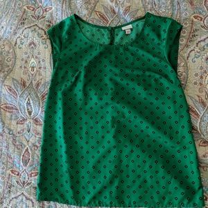 Green blouse with button keyhole back